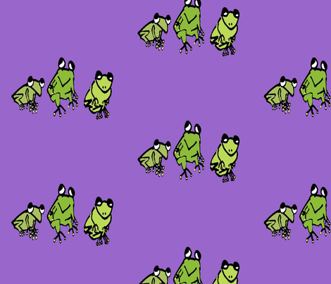 frog doodles fabric by dragonflyfae on Spoonflower - custom fabric