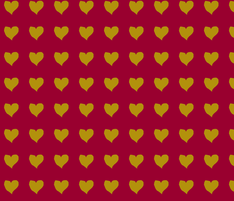 olive_heart_on_magenta fabric by eelkat on Spoonflower - custom fabric
