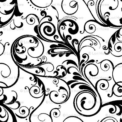 swirls black & white wallpaper - 97.7KB