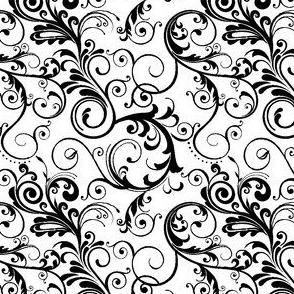 swirls black & white