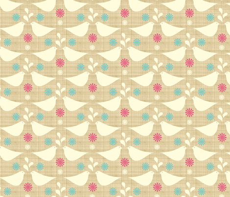 doves fabric by troismiettes on Spoonflower - custom fabric