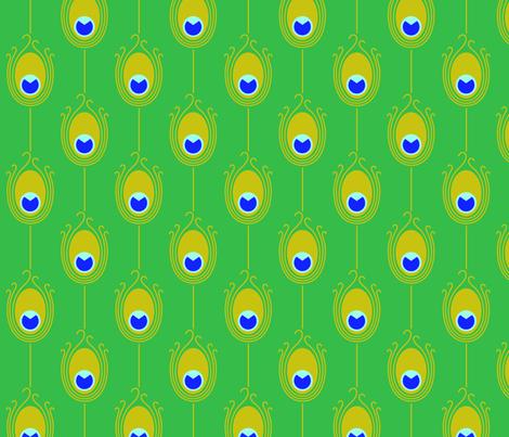 Green Peacock fabric by birdnerd on Spoonflower - custom fabric