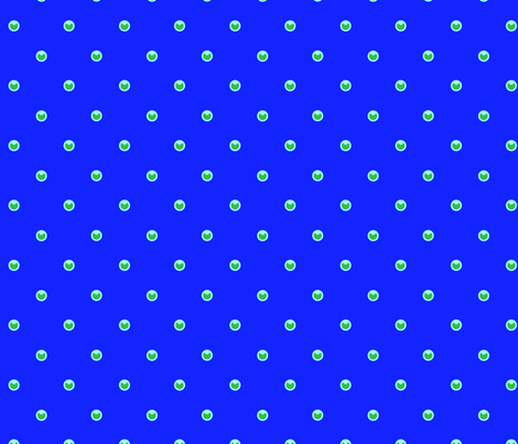 Peacock Dots in Blue fabric by birdnerd on Spoonflower - custom fabric