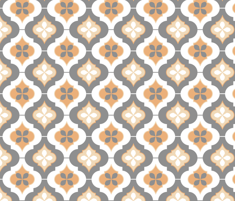 morocco_peach fabric by eva_chang on Spoonflower - custom fabric