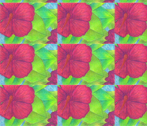 Large_Floral_1_of_2 fabric by michean on Spoonflower - custom fabric