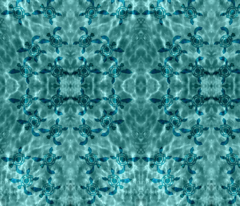 Seaturtles in Light and Water Pattern2 fabric by mina on Spoonflower - custom fabric