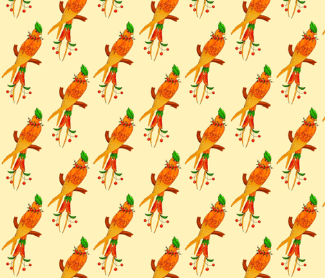 summer bird fabric by patches on Spoonflower - custom fabric