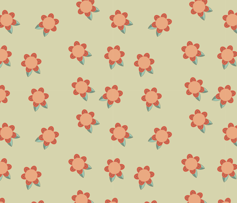 red flowers fabric by suziedesign on Spoonflower - custom fabric