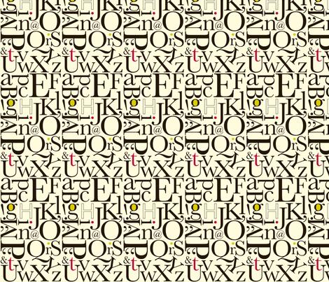 alphabet: red-lime fabric by applesandorange on Spoonflower - custom fabric