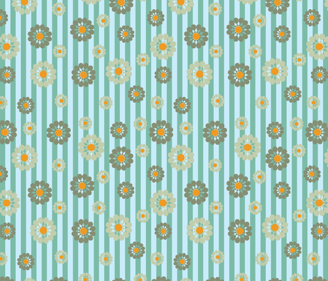 green and orange pattern fabric by suziedesign on Spoonflower - custom fabric