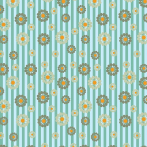 green and orange pattern