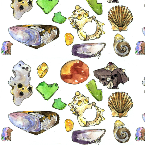 Beachcombing by Jane LaFazio fabric by jane_lafazio on Spoonflower - custom fabric