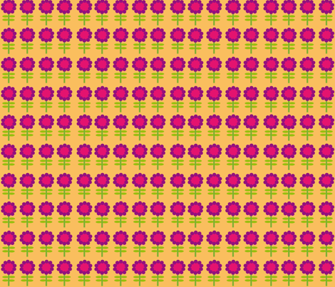 pink_flowers fabric by valeasc on Spoonflower - custom fabric