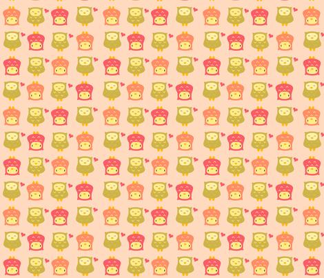 pinkolive fabric by luckyapple on Spoonflower - custom fabric