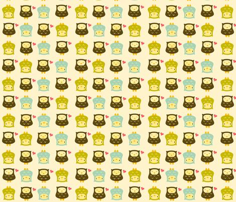 yellowowls fabric by luckyapple on Spoonflower - custom fabric