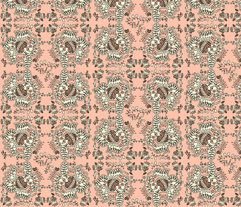 Love hearts fabric by tailorjane on Spoonflower - custom fabric