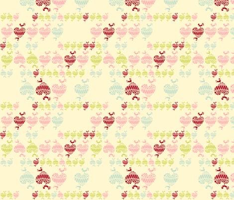 Love birds fabric by tailorjane on Spoonflower - custom fabric