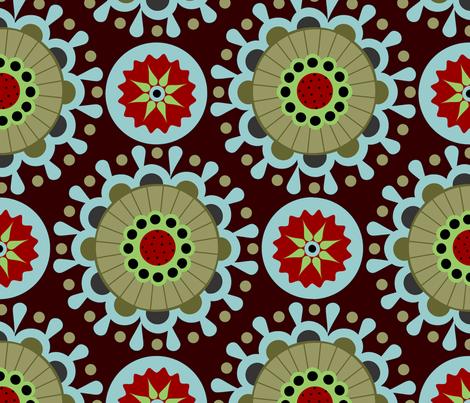 karneval in brown fabric by renule on Spoonflower - custom fabric