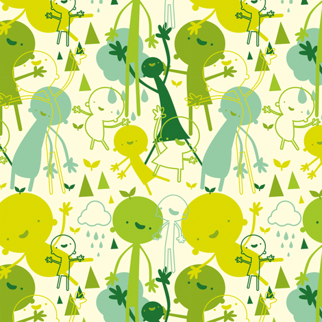 Green Fingers fabric by indescribble on Spoonflower - custom fabric