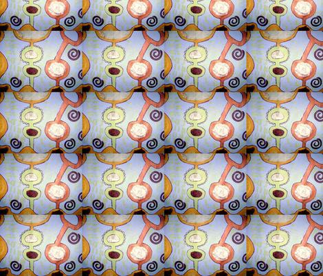 Diary of a Travel Girl fabric by shebaduhkitty on Spoonflower - custom fabric