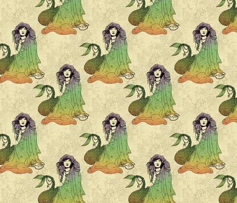 Mermaid fabric by ophelia on Spoonflower - custom fabric