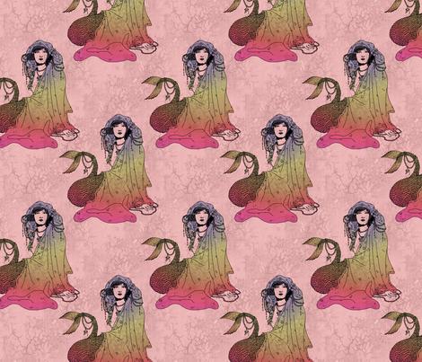 Mermaid Pink fabric by ophelia on Spoonflower - custom fabric
