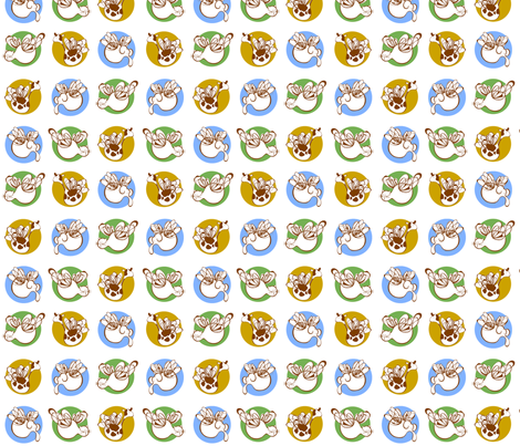 Buzzing in Circles fabric by flyingtreestudios on Spoonflower - custom fabric
