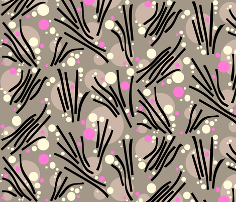 Bubbles in Grays with Pink Accents fabric by amy_lou_who on Spoonflower - custom fabric