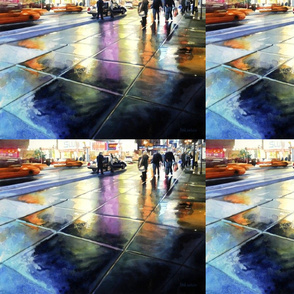 """Neon Rain"" Watercolor, Paul Jackson"