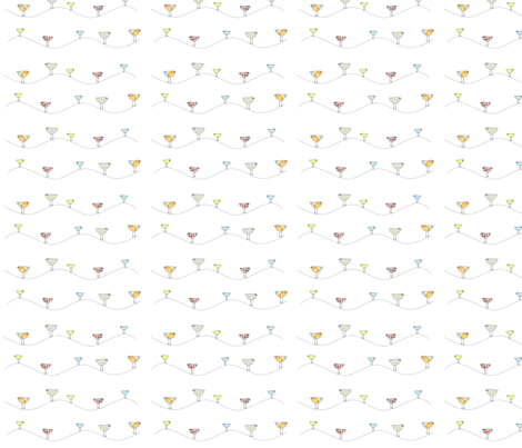 birds on a wire - small fabric by sweetwaterbaby on Spoonflower - custom fabric