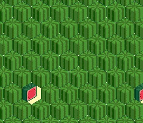Square Watermelon fabric by bonsaimechagirl on Spoonflower - custom fabric