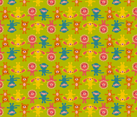 WeeFolkArt_Amigurumi_Friends fabric by weefolkart on Spoonflower - custom fabric