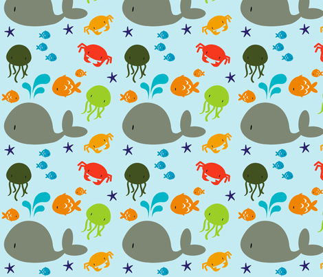 seabuddies fabric by luckyapple on Spoonflower - custom fabric
