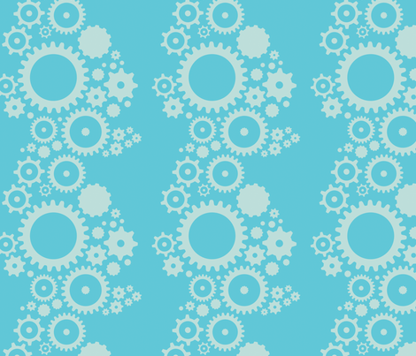 Robot Gear Constellation fabric by jackieatweelife on Spoonflower - custom fabric