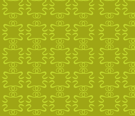 nouveau_snakes fabric by sagesublime on Spoonflower - custom fabric