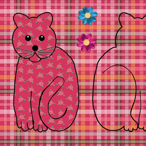 Rose Kitty Doll Cut-and-Sew Kit