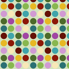 dots green background