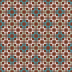 Pointy Squares Brown