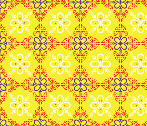 florawackright fabric by dolphinandcondor on Spoonflower - custom fabric