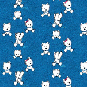 Westie Pocket Full O' Poses (blue)