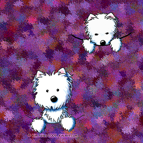 Pocket Westies Quilting Square fabric by kiniart on Spoonflower - custom fabric