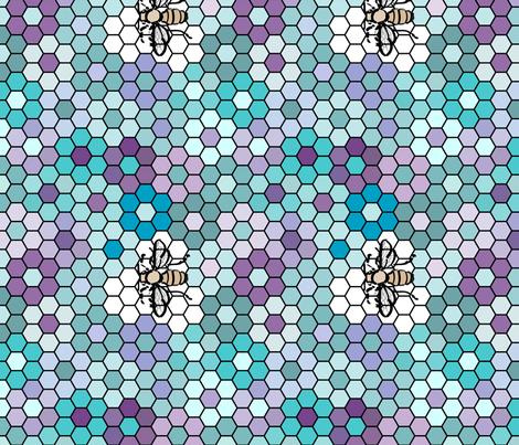 Honeycomb-Honeybee-3b fabric by mina on Spoonflower - custom fabric