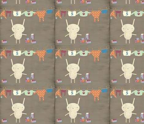 Little bunny fabric by yaelfran on Spoonflower - custom fabric