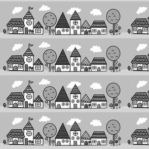 wee village grey scale 2