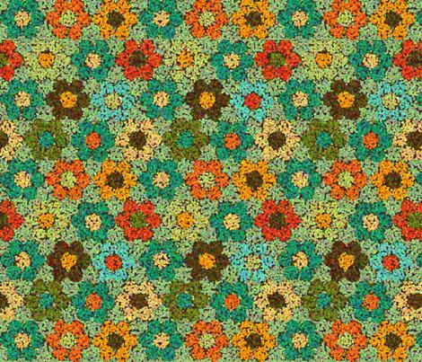 flower_garden_TEALpoint fabric by lfntextiles on Spoonflower - custom fabric
