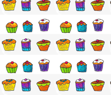Charming Cupcakes  fabric by ephemeralalchemy on Spoonflower - custom fabric