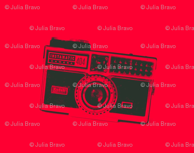 retro camera/red 1