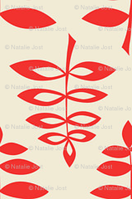 Tree Leaves in Red