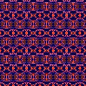 Purple & Orange Voodoo Tribal