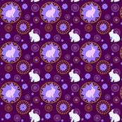 Rabbit Mandalas Purple